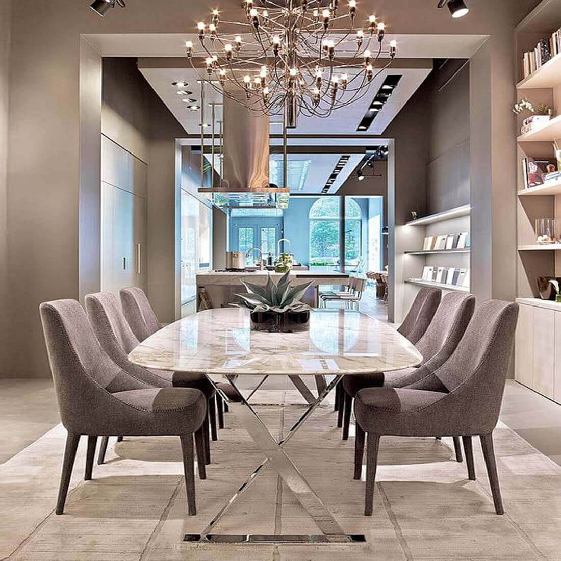 Modern Dining Room Furniture Accessories: Mermer Ile Alakali Herşe, Doğal
